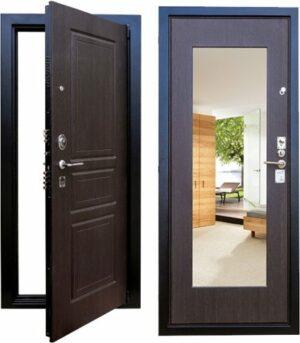 Стальная дверь Выбор-5 с зеркалом