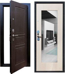 Входная металлическая дверь Выбор-5 с зеркалом