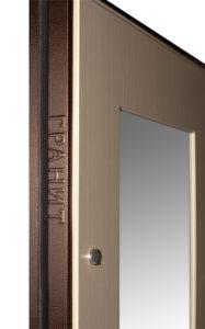 Логотип на торце двери Гранит М3