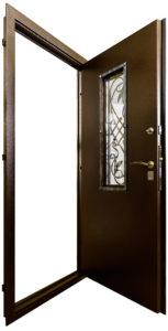 Дверь для загородного дома Гранит Коттедж изнутри
