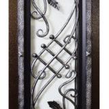 Кованная решетка уличной двери Гранит Коттедж