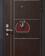 Входная стальная дверь Кондор Хром с молдингами